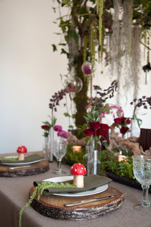 Enchanted Forest Baby Shower Tablescape Pinteres