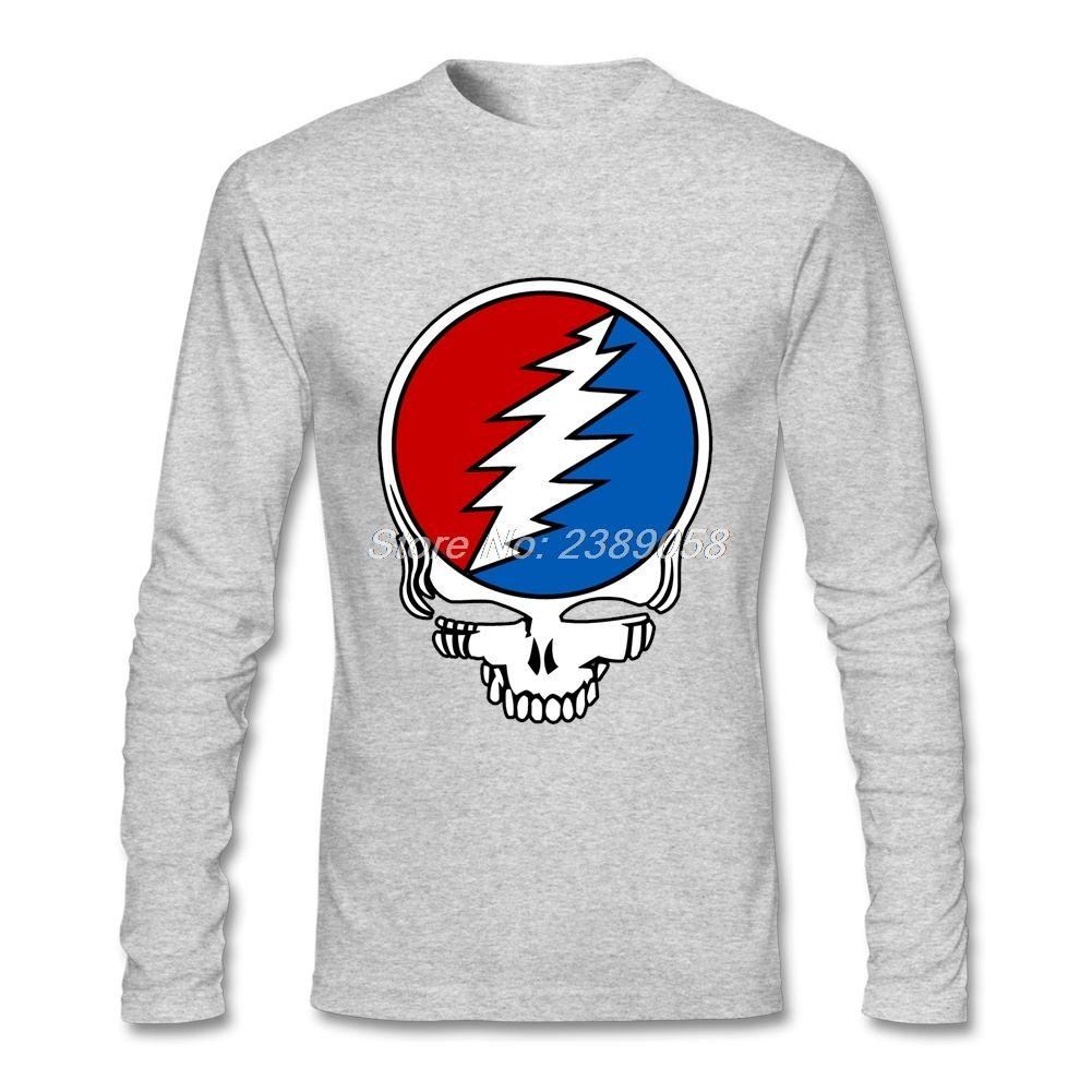 Men custom t shirt hot sale autumn winter grateful dead logo tops