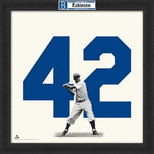 Jackie Robinson Framed Brooklyn Dodgers 20x20 Jersey Photo Jackie Robinson Robinson Dodgers