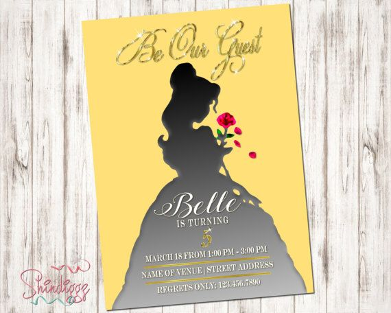 Belle invitation belle silhouette belle birthday belle party belle invitation belle silhouette belle birthday belle party princess invitation princess party beauty 2017 filmwisefo