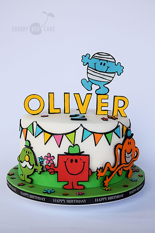 Mr Men Cake 7th Birthday Cakes 1st Birthday Cakes Boy Birthday Cake