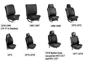 Tmi Original Style Seat Upholstery Full Set Bug 58 64 Vw Super Beetle Volkswagen Beetle Vintage Volkswagen Beetle