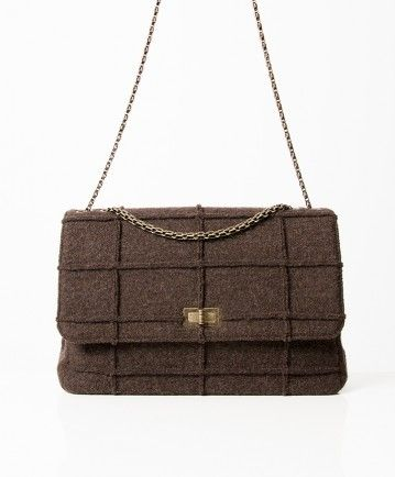 8194e055f127 Authentic secondhand Chanel Indentification brown wool flap shoulder bag  cross body right price designer vintage webshop labellov luxury bra.