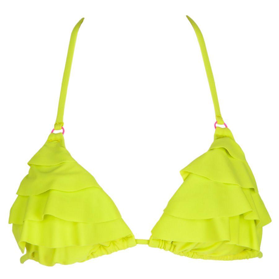 The Bikini Lab Juniors Neon Ruffle Halter #VonMaur