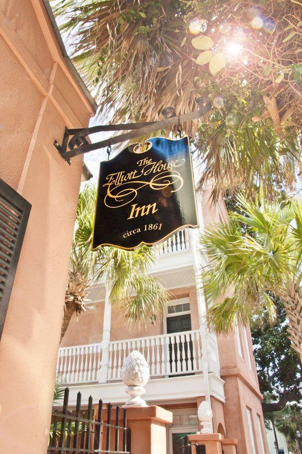 Elliott House Inn Sign. Charleston, SC Charleston sc