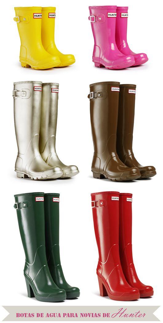 2bbb32af5f6 Nuestra selección de botas de agua Hunter para novias ¡We love rain!   weddingshoes  bridalshoes  zapatosdenovia