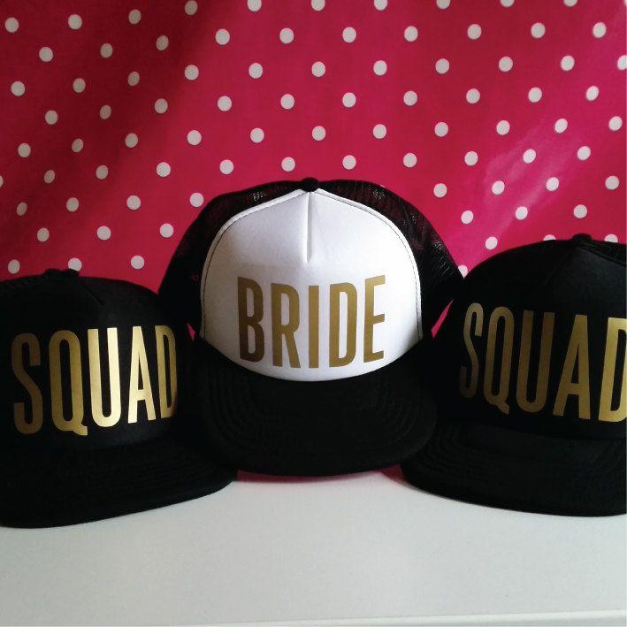 Wedding Bride Squad Baseball Hat Cap Snapback Hat Bridal Shower Headwear