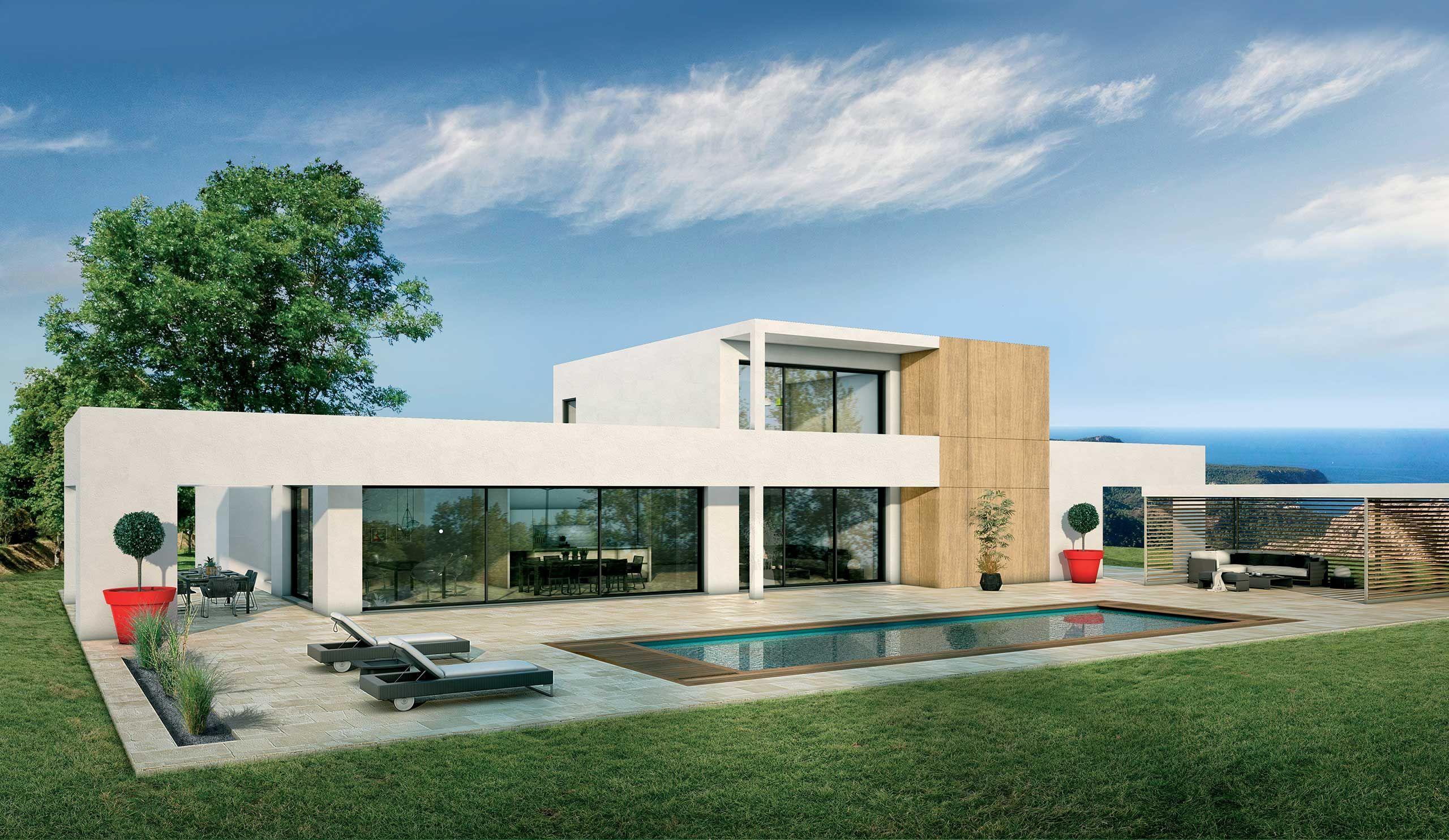 Maison contemporaine Étage Séquoia avec plans - Demeures d'Occitanie Constructeur maison … en ...