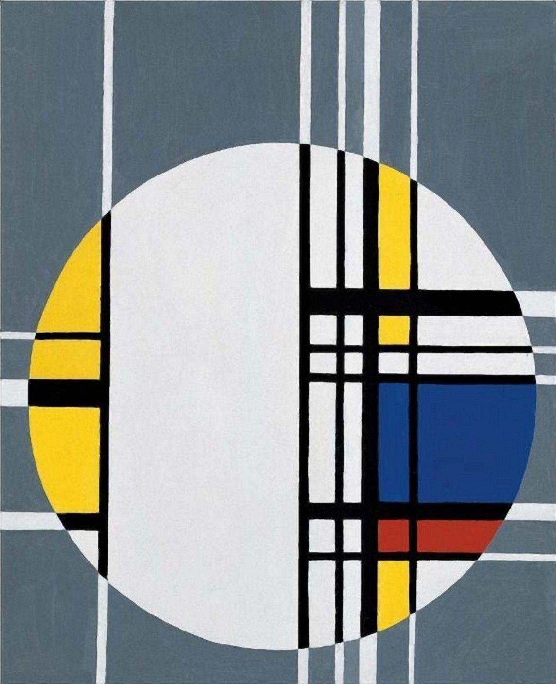 Jean Albert Gorin (1899 - 1981) Composition N17 1961 (66 x ... Оп Арт Живопись