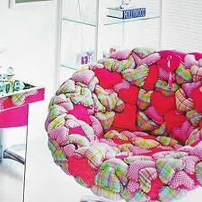 Cadeira Forrada Patchwork