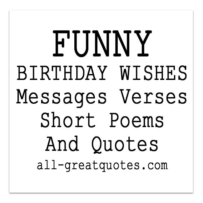 Funny Birthday Wishes Poems To Write In Birthday Cards Cards