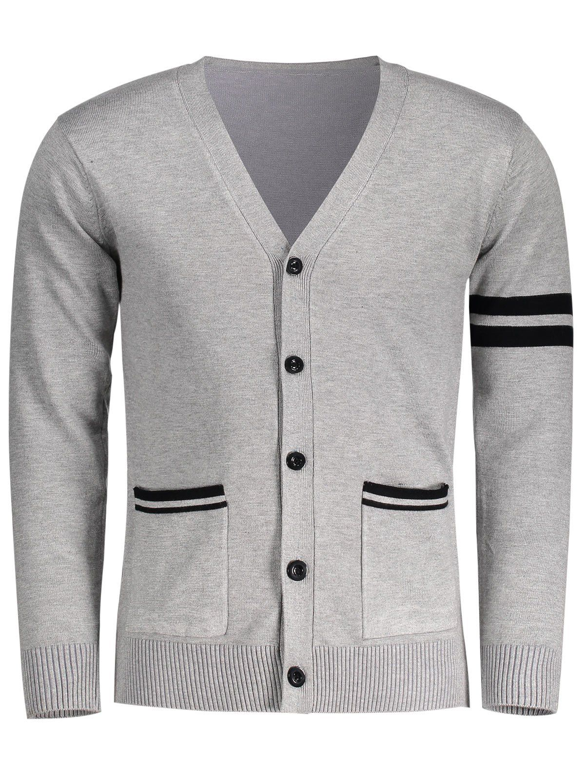 V Neck Button Up Mens Cardigan: V Neck Button Up Mens Cardigan ...