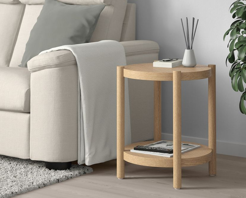 Listerby Side Table White Stained Oak 19 5 8 Ikea In 2020 Living Room Side Table Ikea Side Table White Side Tables #white #side #tables #living #room