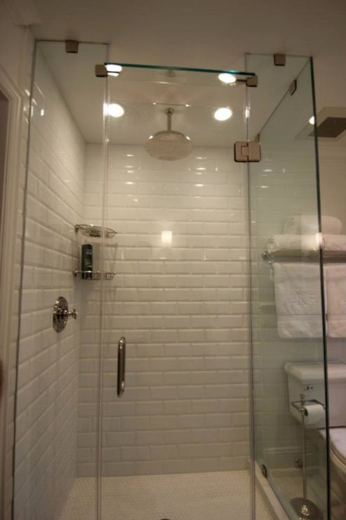 Image Of Small Bathroom Glass needs to be solid frameless Love the water from