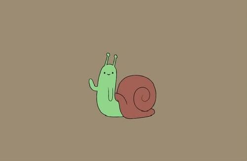 In every episode, the snail is always hiding somewhere waving.