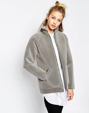 Monki Textured Scuba Jacket