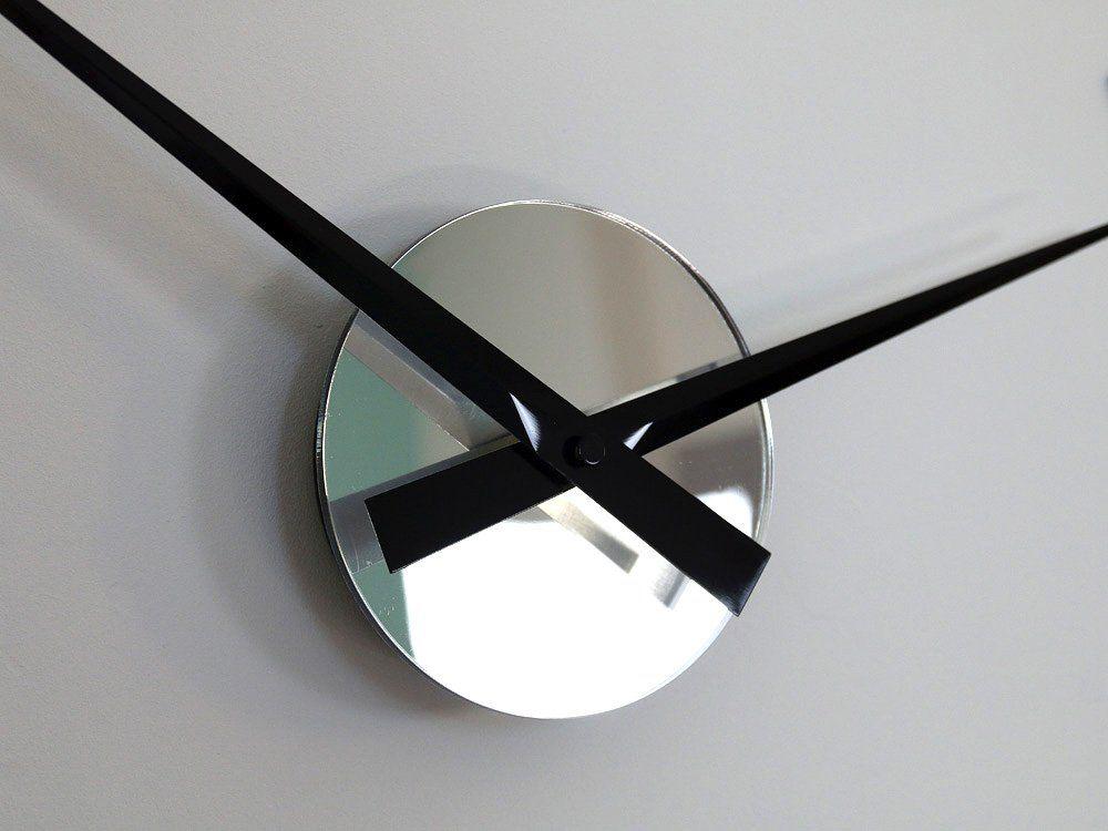 Zegar Scienny Silver Xl 60cm Kolory Nowoczesny Wall Clock Clock Decor