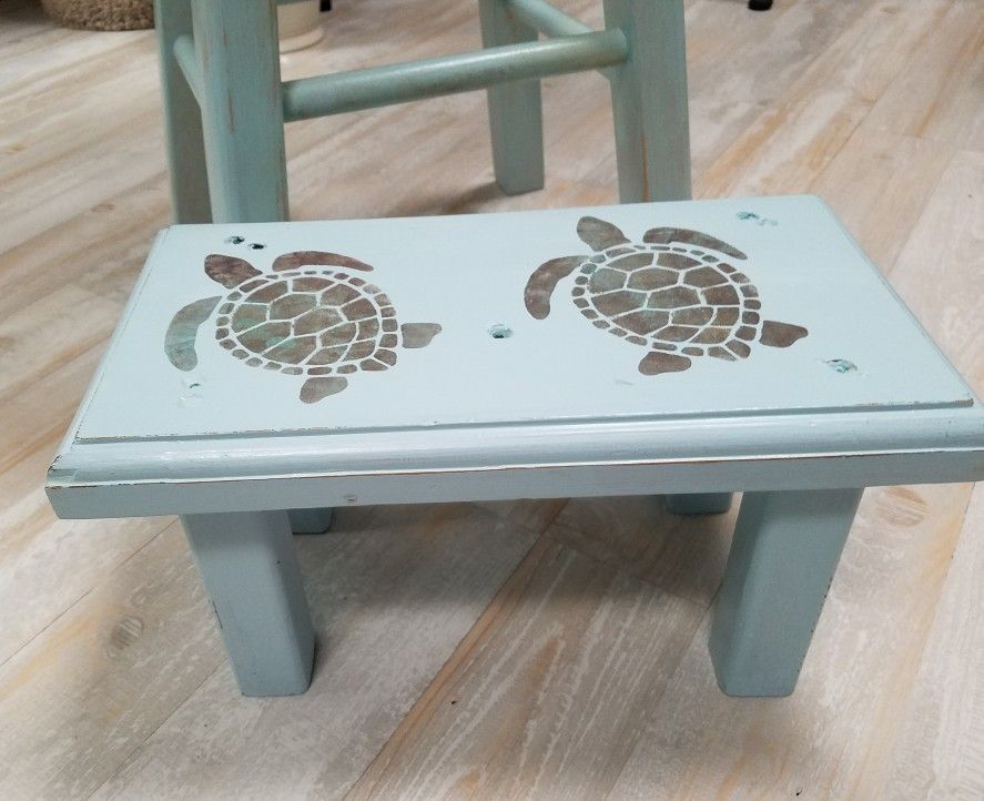 Magnificent Cute Little Sea Turtle Bench Step Stool Plant Stand Machost Co Dining Chair Design Ideas Machostcouk
