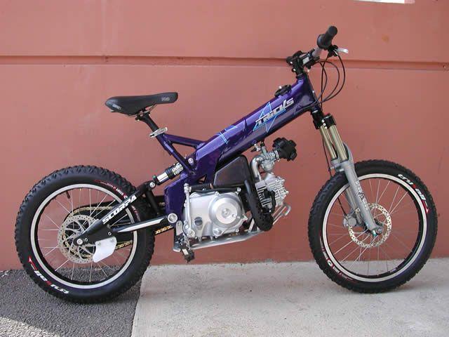 2 Stroke Mountain Bike Powered Bicycle Motorized Bicycle Eletric Bike