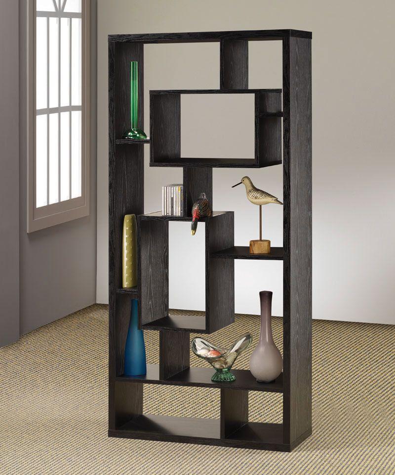 room divider shelf in black oak finish by coaster furniture room divider shelf in black oak finish by coaster furniture shelving unitsroom