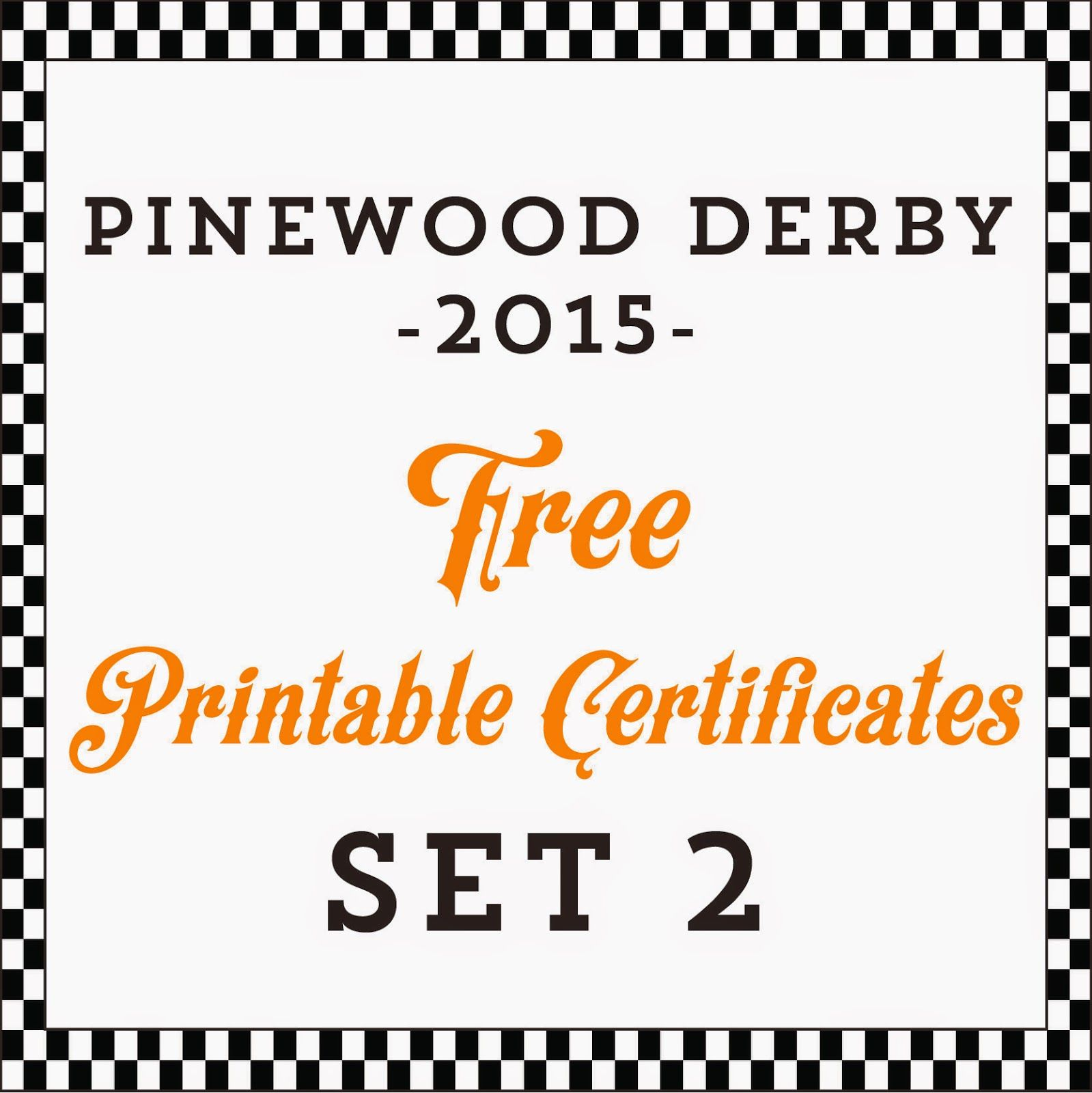 Hot Commodity Home Decor: Free Printable Pinewood Derby Awards ...