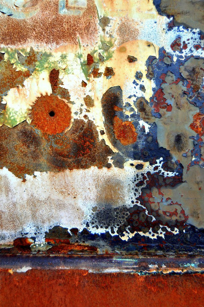Contemporary abstract composition using digital images of rusted and weathered metal surfaces. Using digital photography images, the high quality giclee print is created in the studio using archival p