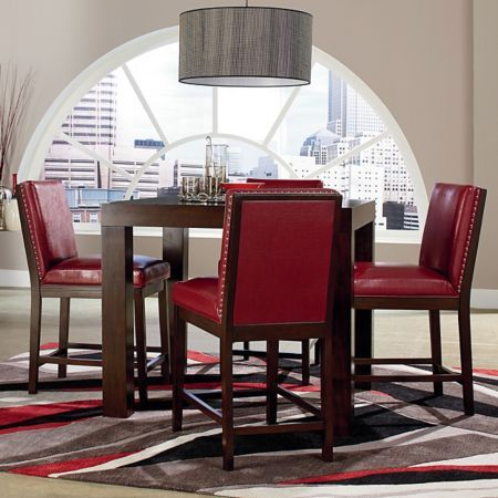 Jeromes Furniture Offers The Couture Dining Collection Counter Set Table 4 Side Chairs In Red At Best Prices Possible With Same Day Delivery