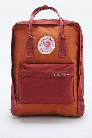 d48dbe94a99 Fjallraven Kanken Classic Red Brick Save the Arctic Fox Backpack - Urban  Outfitters