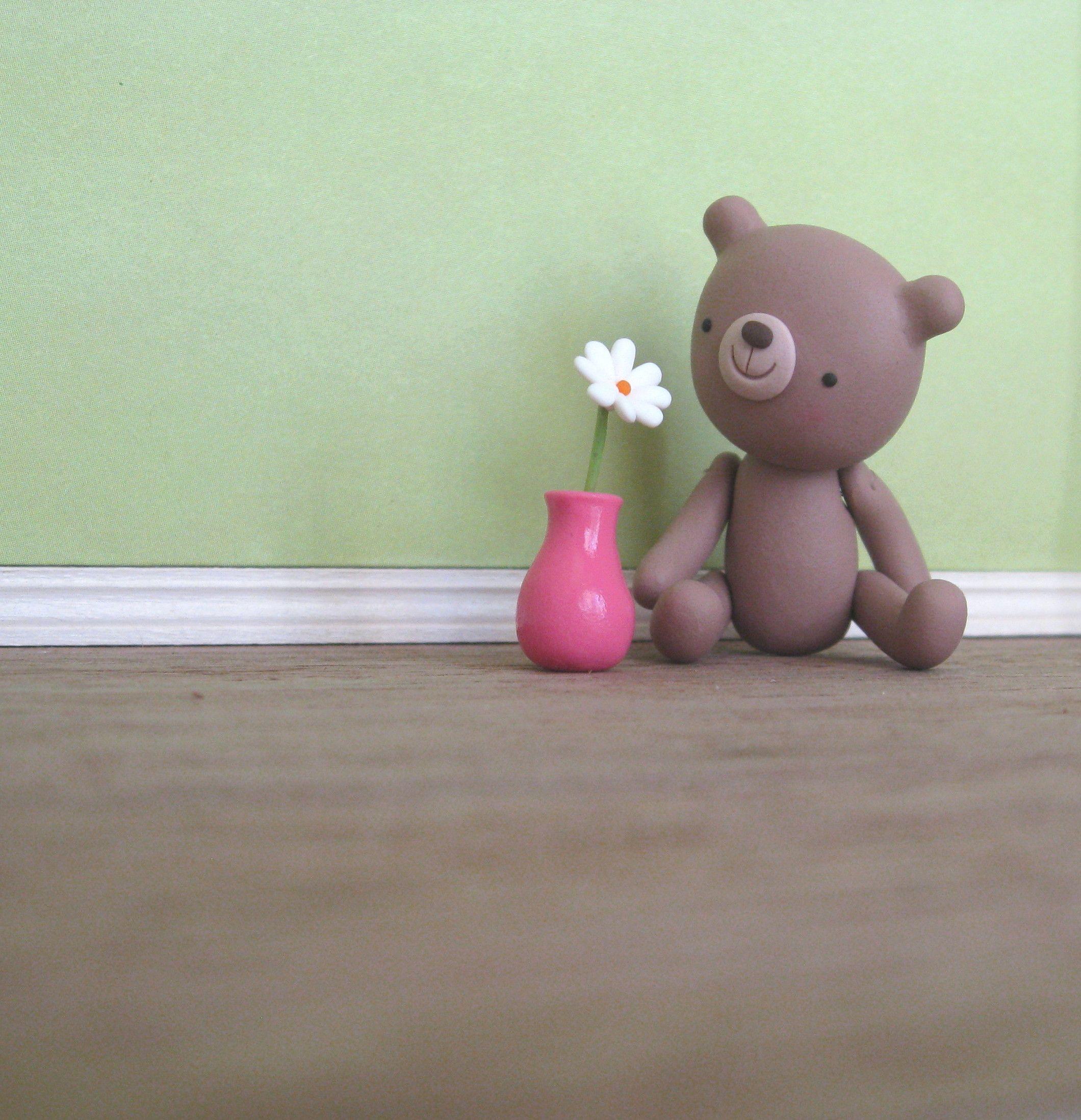 Polymer clay bear by holly jayne.  http://www.etsy.com/shop/hollyjayne