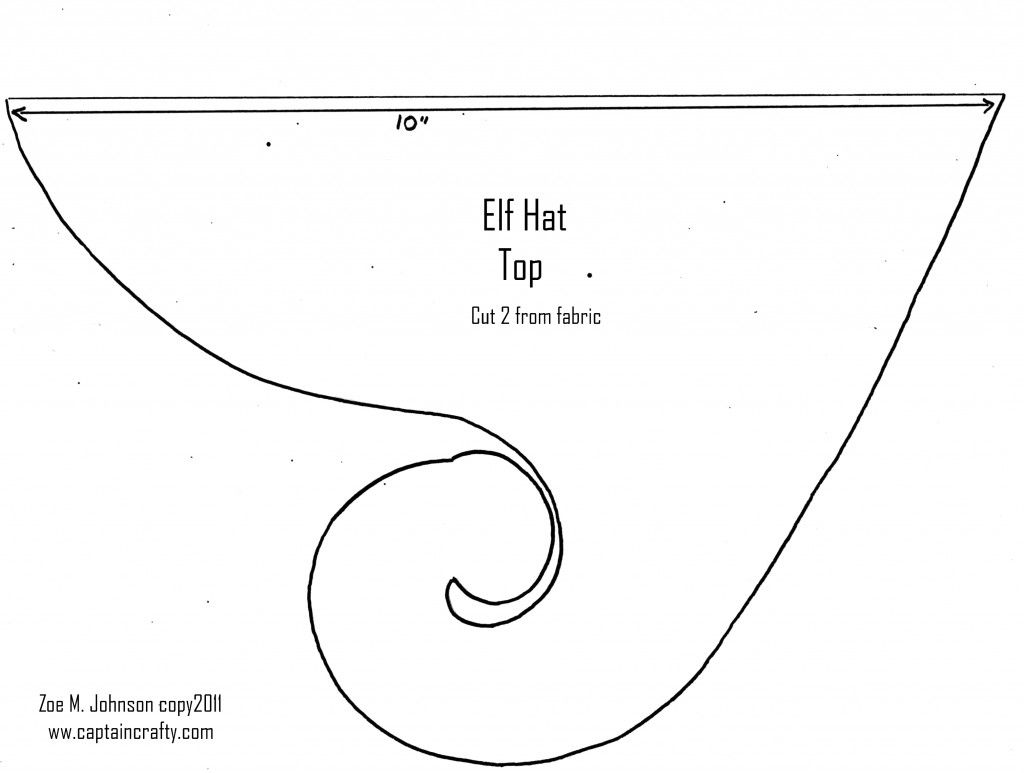elf hat sewing pattern tags for kids make your own