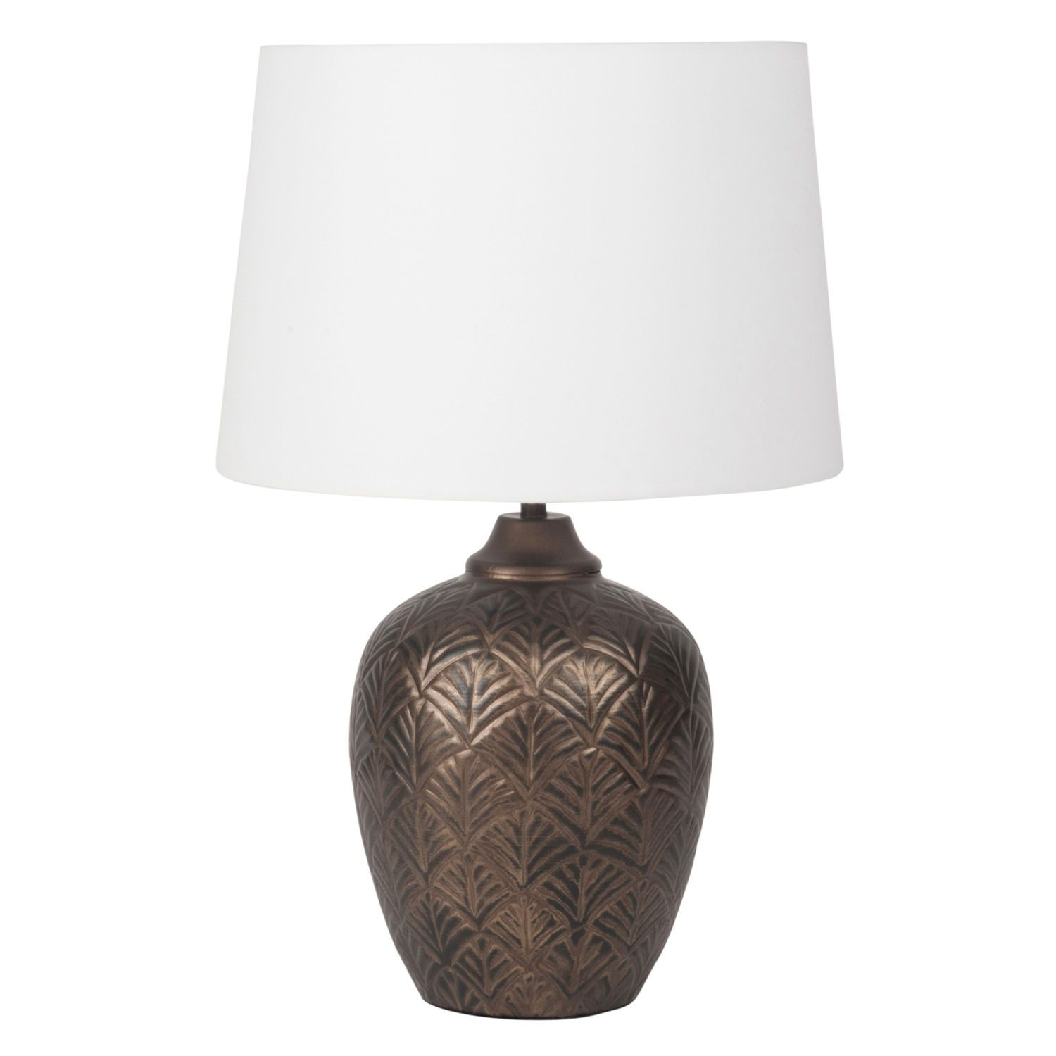 Gold Metal Lamp With White Shade On Maisons Du Monde Take Your Pick From Our Furniture And Accessories And Be Inspi Abat Jour Blanc Abat Jour Maison Du Monde