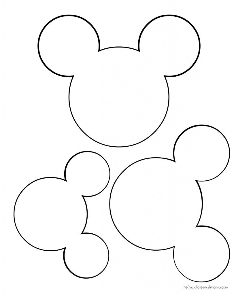 photograph relating to Minnie Mouse Silhouette Printable referred to as printable mickey mouse ears template - Google Appear youngster