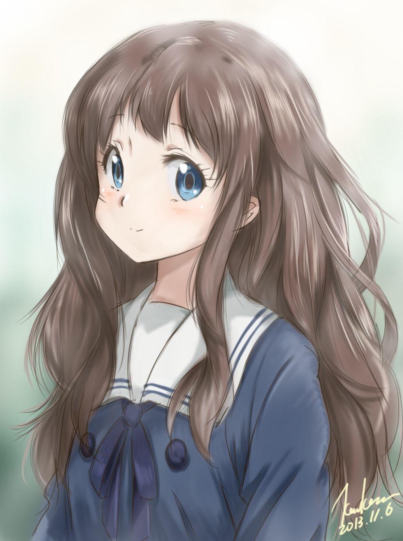 Shindou Ai Kyoukai no Kanata Иллюстрации, Аниме девушка