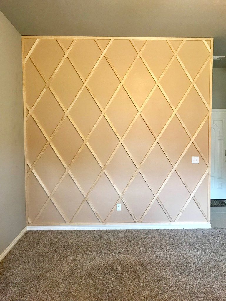 DIY Paneled Wall #accentwall