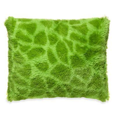 Giraffe Long Hair Faux Fur Toss Pillow - BedBathandBeyond.com