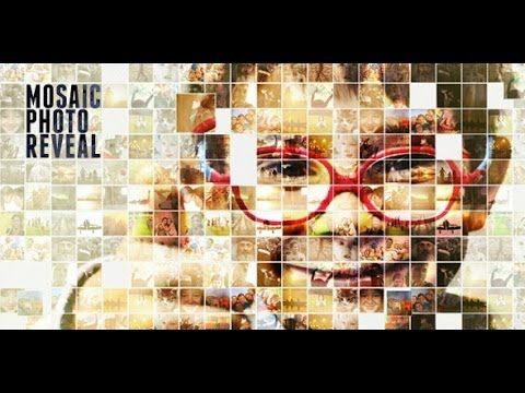Line Art In After Effects : Mosaic photo reveal after effects template youtube motion