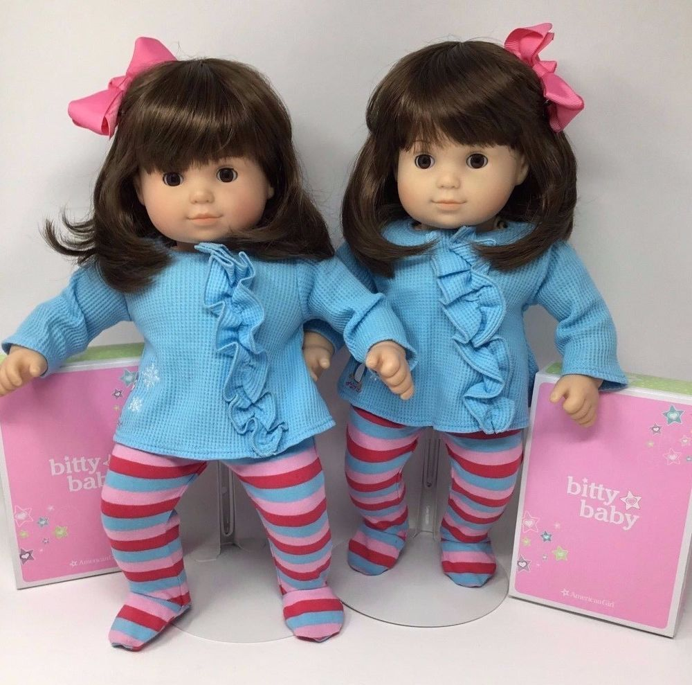 524485fed American Girl Doll ~Bitty Twins ~ Brown Hair Brown Eyes w  NEW Bitty ...