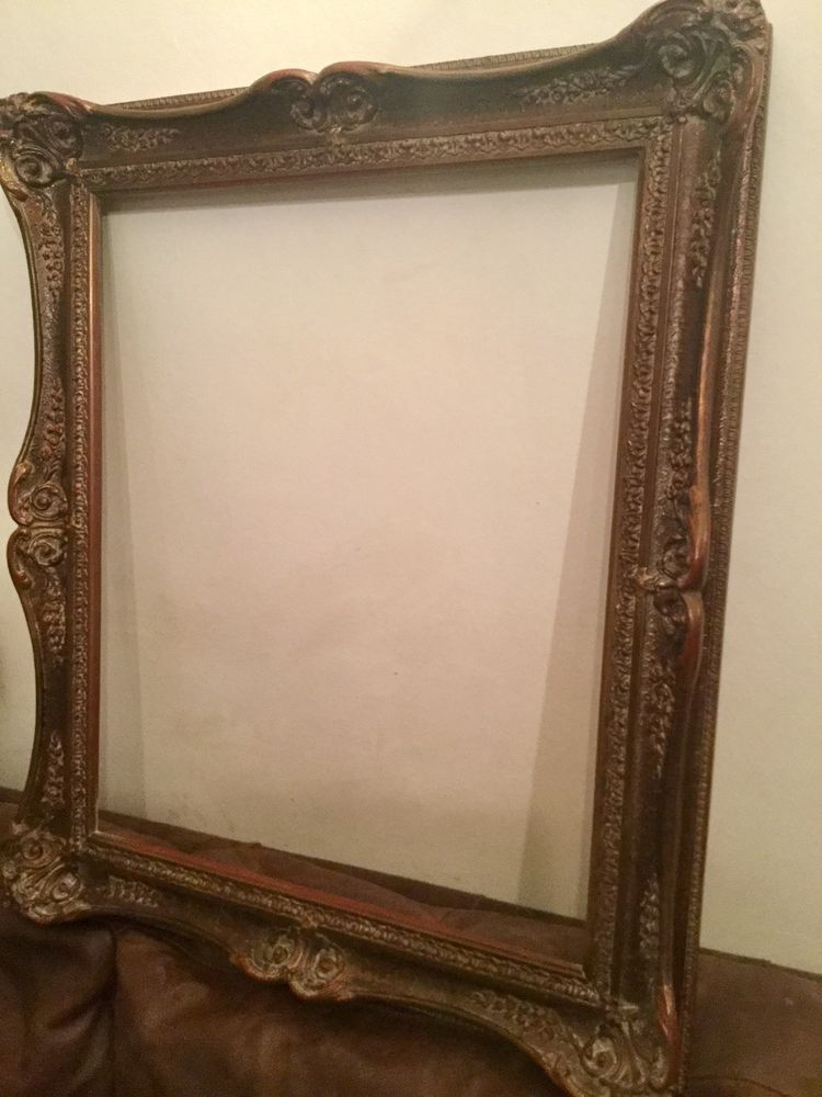 Large Shabby Chic Ornate Mahogany Colour Rococo Style Picture Frame ...