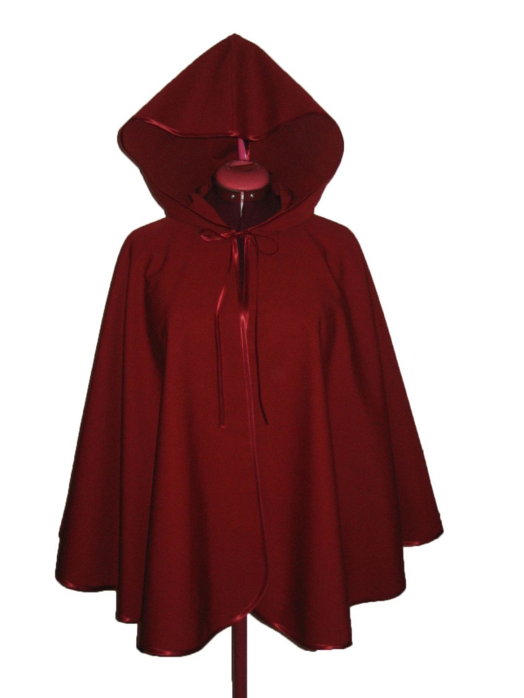 cape de pluie 100 impermeable bordeaux manteau blouson veste par gwaelonna cape de pluie. Black Bedroom Furniture Sets. Home Design Ideas