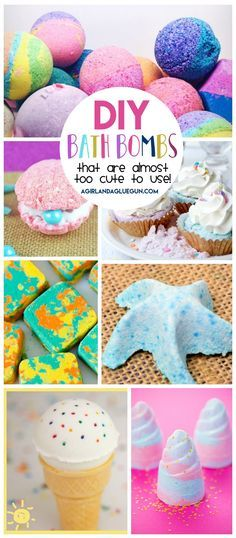 DIY Bath Bombs! Adorable bath bombs for kids or grownups that are almost too cute to use.