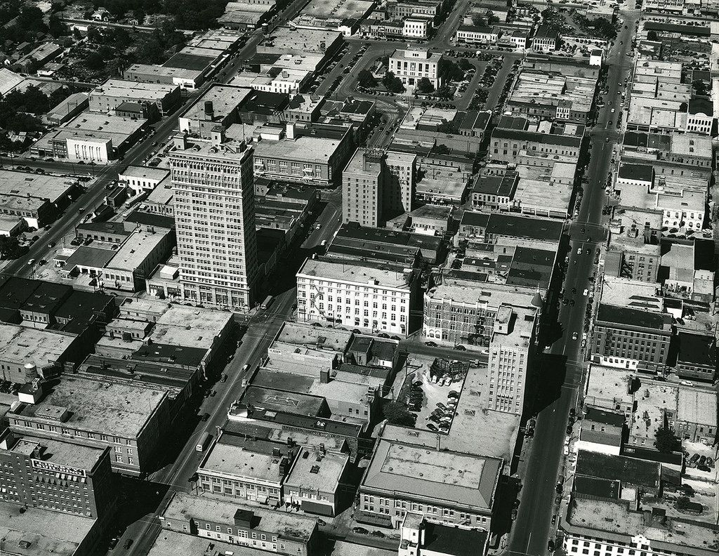 Aerial Photo Of Downtown Waco Texas C 1950 1 Aerial Photo