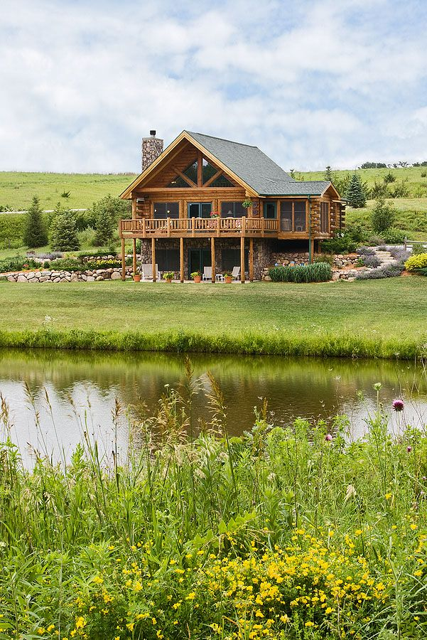 log home photos prairie song home tour expedition log homes llc prairie song model in. Black Bedroom Furniture Sets. Home Design Ideas