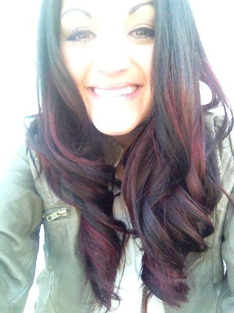 DARK RED OMBRE | Red Ombre. Red ombre on dark hair