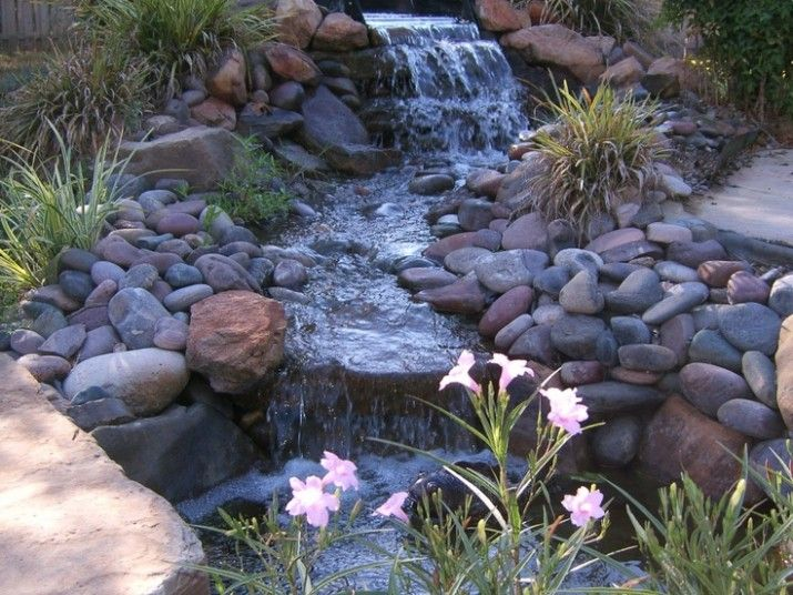 Stunning Relaxing Garden And Backyard Waterfalls Astounding Small Fresh Man Made Pond With Awesome Waterfalls Backyard Garden Waterfall Landscaping With Rocks