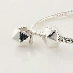 1pc 925 Sterling Silver Clasp Polygon Charms Stopper Beads Compatible with Pandora Chamilia Kay Troll European Bracelets