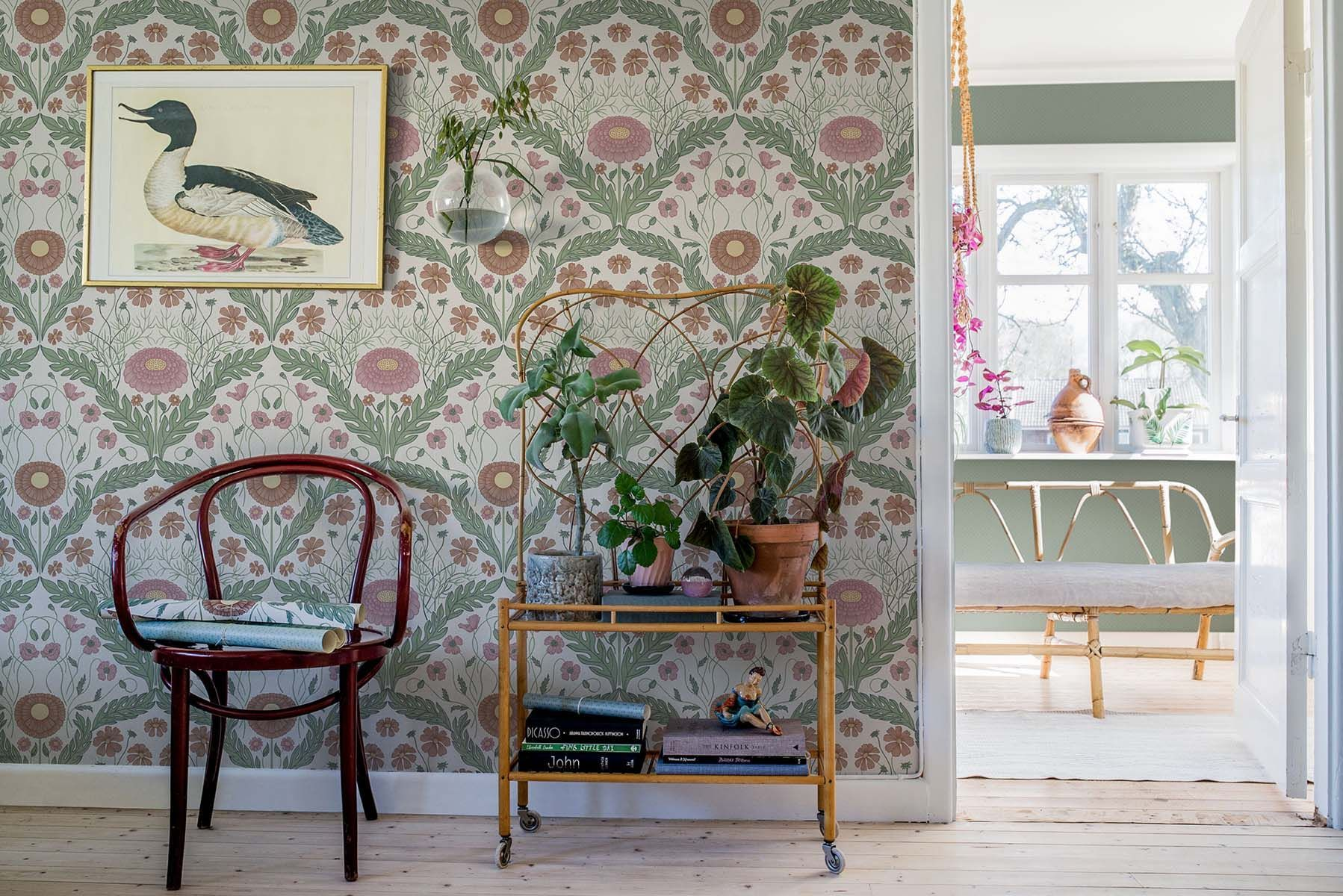 english primrose floral wallpaper in 2019 inside wallpaper