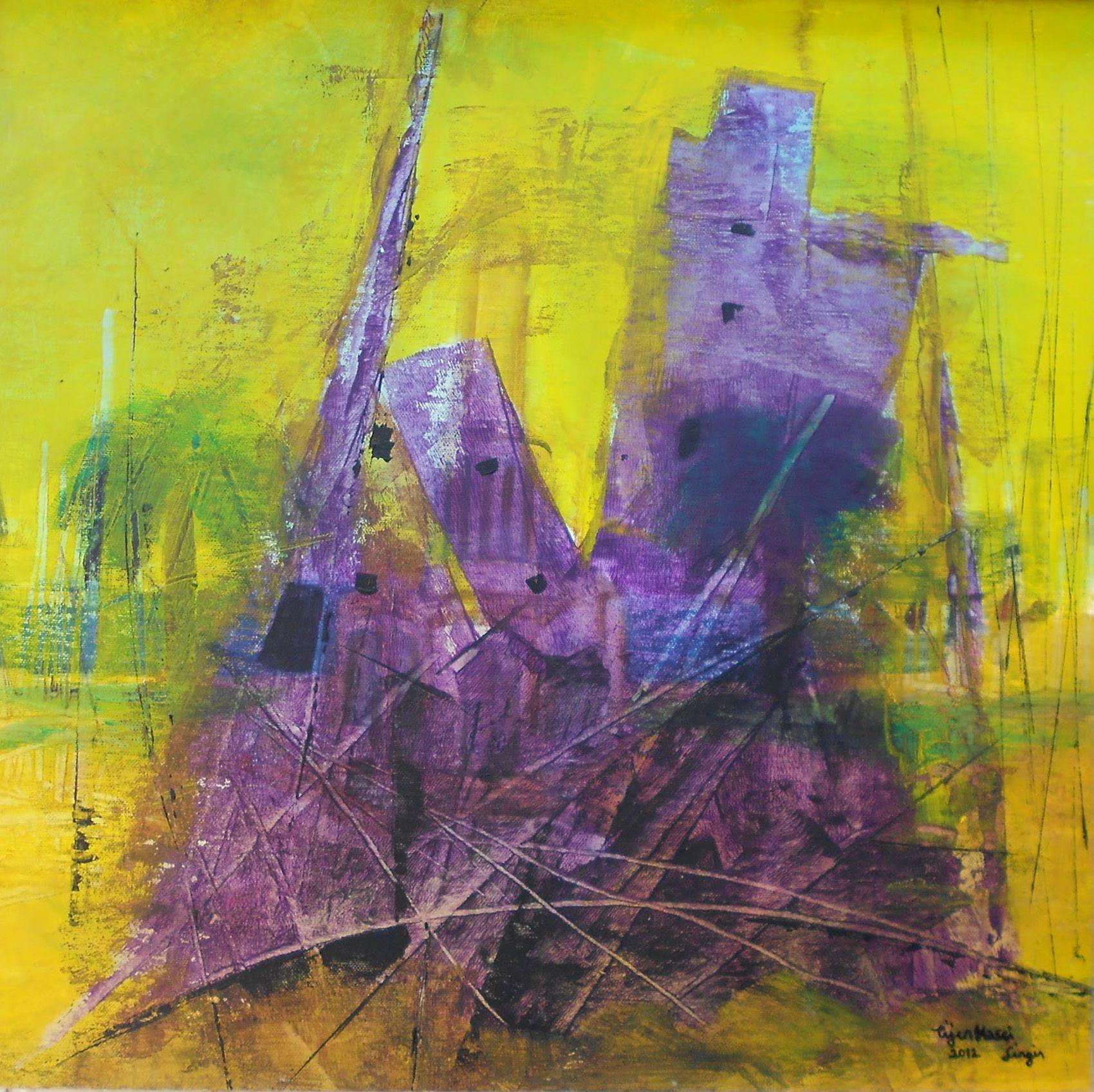 Gallerymak.com - 3.500 TL / 1.000 USD  Düzen (Order) by Tijen Hasçilingir - TUA / #Acryliconcanvas - 52x52  #gallerymak #sanat #tablo #eser #akrilik #frieze #instaart #contemporaryart #painting #art #artist #yagliboya #abstract #abstractart #soyut