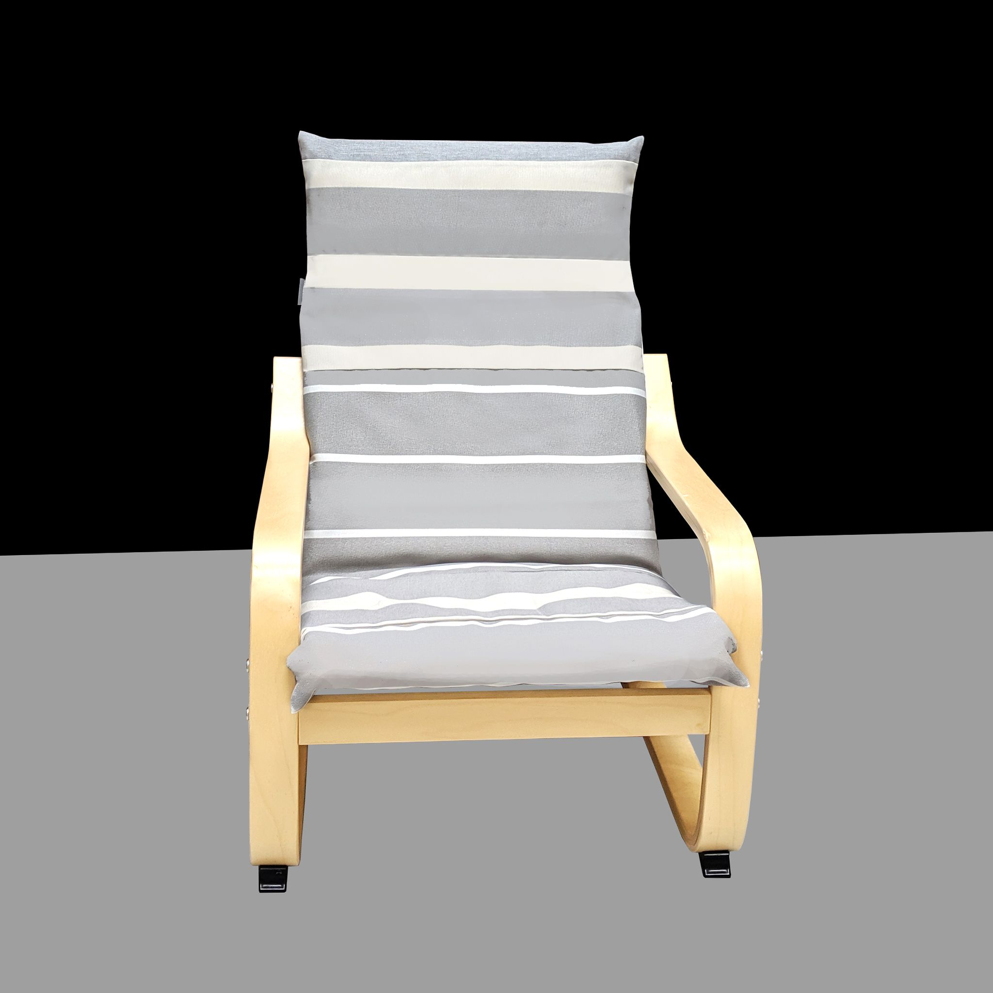 Grey White Beige Stripe Ikea Kids Poang Chair Cover Ikea