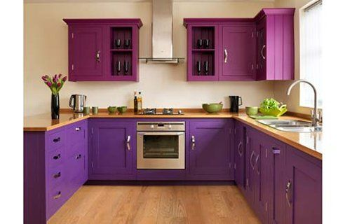 Kitchen Design Inspiration Purple Or Grape Or Plum I Love The Use Of Two  Shades Of