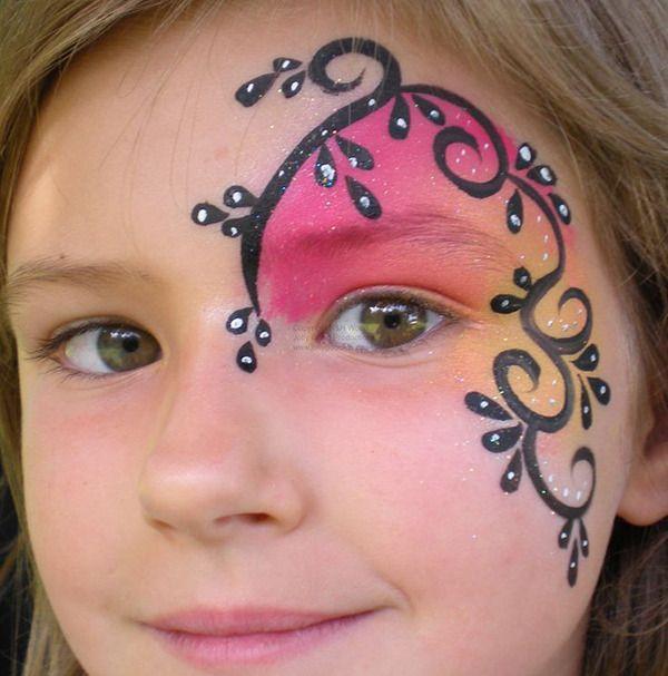 детские фото рисунки на лице